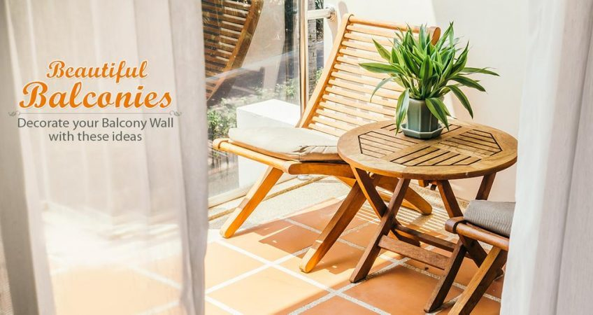 Decorate your balcony walls with these great Ideas