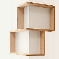 Double box shelf system