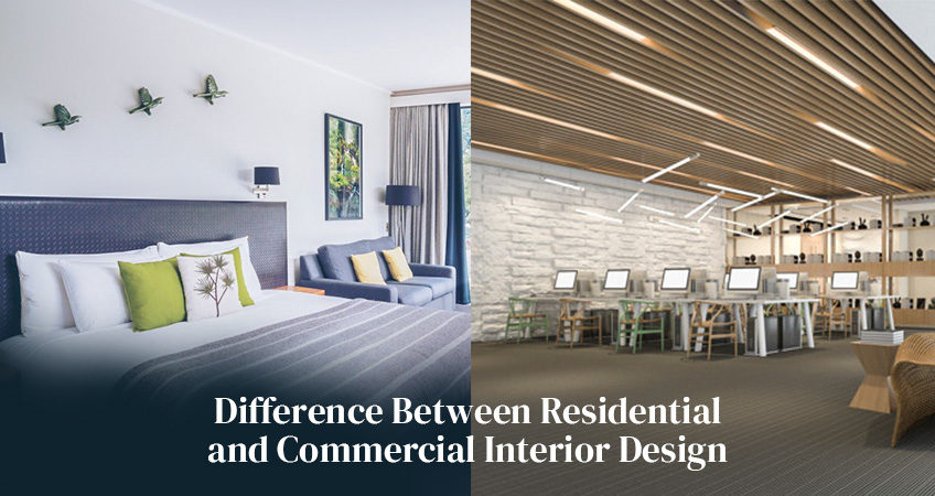 What is the difference between residential and commercial design?